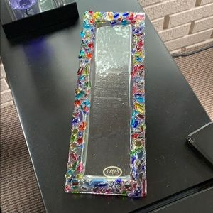 Hand crafted fused glass serving plate